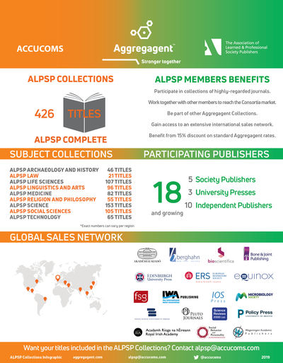 infographic ALPSP member publishers within Aggregagent January 2019