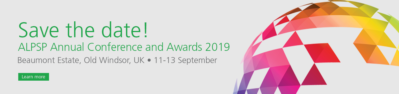 Banner save the date ALPSP Conference 11-13 September 2019