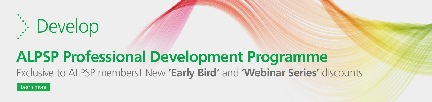 Banner Develop ALPSP professional development programme exclusive to ALPSP members early bird and webinar series discounts