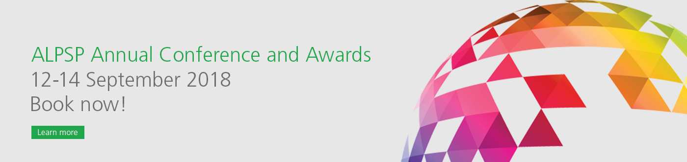 Banner ALPSP Annual Conference and Awards 12-14 September 2018 Book now