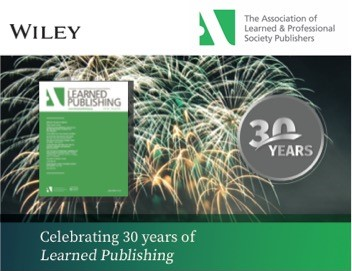 image Learned Publishing at 30 celebration banner