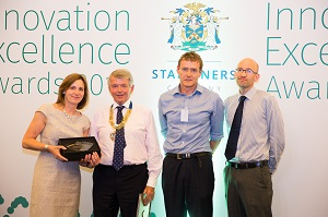 photo PLS receives innovator of the year 2017 award at stationers company